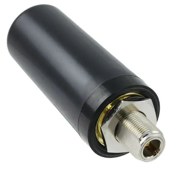 RSGB-698/2700-3-NF: Black Permanent Mount IP67 Omni Antenna For Cellular 3G 4G LTE with N-Female Connector.