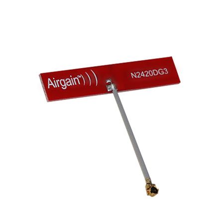 N2420DG3-T-G150U : Airgain Dual-band(2.4-2.49 GHz and 4.9-5.9 GHz), PCB Plug and play antenna with 150 mm cable and IPEX/MHF/UFL connector