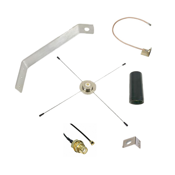 CELL3DBKT: Weatherproof External 4G/LTE Cellular Antenna Kit for Honeywell AlarmNet Security and Fire Alarm Systems