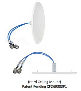 CFD69383P1-30NF: Ultra Low Profile MIMO Hard Ceiling Mount Antenna 698-960 MHz/1350-1550 MHz/1690-4000 MHz with N-Female connector