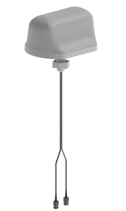 DASLTE500NFMIMO: Antenna, In-Building DAS, MIMO WiFi or LTE, 698-5900 MHz, with dual 500mm pigtails & N-Female Connectors., Low PIM rated -155dBC, ceiling mount.