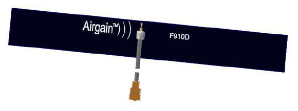 F910D-G100U: Single Band Flex PCB Antenna 868-928 MHz with U.FL Compatible Connector