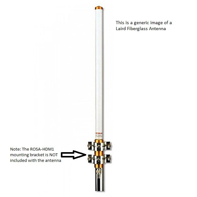 FG3803 : 380-406 MHz, 3 dBd/ 5.15 dBi Outdoor Fiberglass Omni base Station Antenna with N-Female Connector