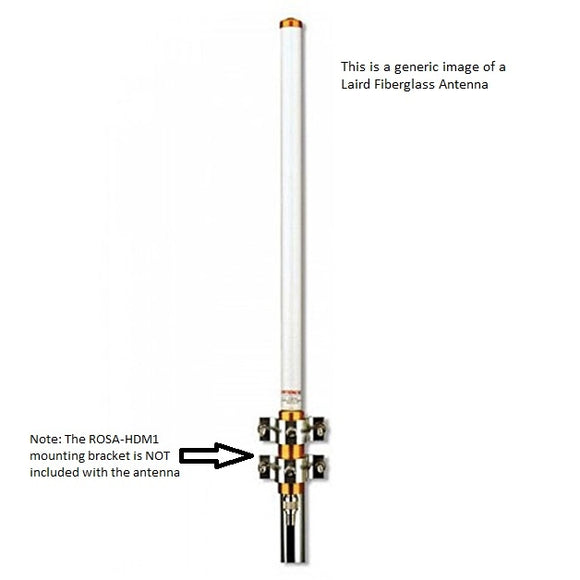 FG4607 : 460-470 MHz, 7 dBd/ 9.15 dBi Outdoor Fiberglass Omni base Station Antenna with N-Female Connector