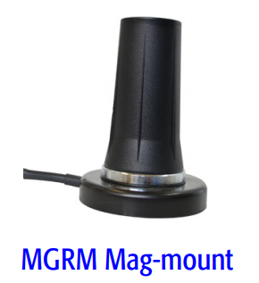 MGRM-WHF-3C-BLK-120: Mobile Mark Mag-Mount Antenna for WiFi, color Black with 10 Foot Coax Cable & SMA-Male Connector.