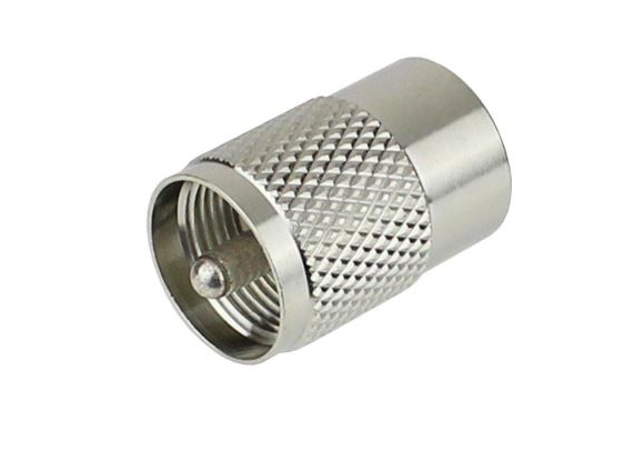 MUM195: COAXIAL Mini UHF MALE CRIMP CONNECTOR FOR RG58 AND LMR195 CABLE. 50 OHM