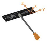 N2410CM3-T-G150U : Airgain Single-band(2.4-2.49 GHz) PCB Plug and play antenna with 150 mm cable and IPEX/MHF/UFL connector