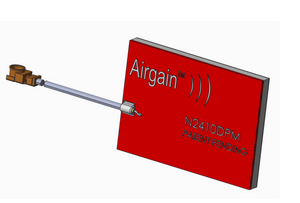 N2410DPM-T-G100U : Airgain Dual-band(2.39-2.49 GHz and 4.9-5.9 GHz), Single feed PCB Plug and play antenna with 100 mm cable and IPEX/MHF/UFL connector