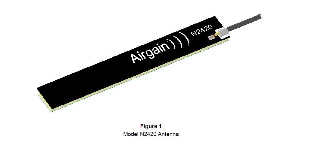 N2420-T-PK1-G90U : Airgain Dual-band(2.4-2.49 GHz), PCB Plug and play antenna with 90 mm cable and IPEX/MHF/UFL connector