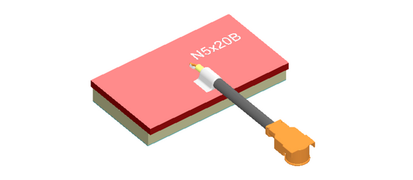 N5X20B-T-G150U : Airgain Single-band (4.9-5.9 GHz) PCB Chip antenna with 150 mm cable and IPEX/MHF/UFL connector