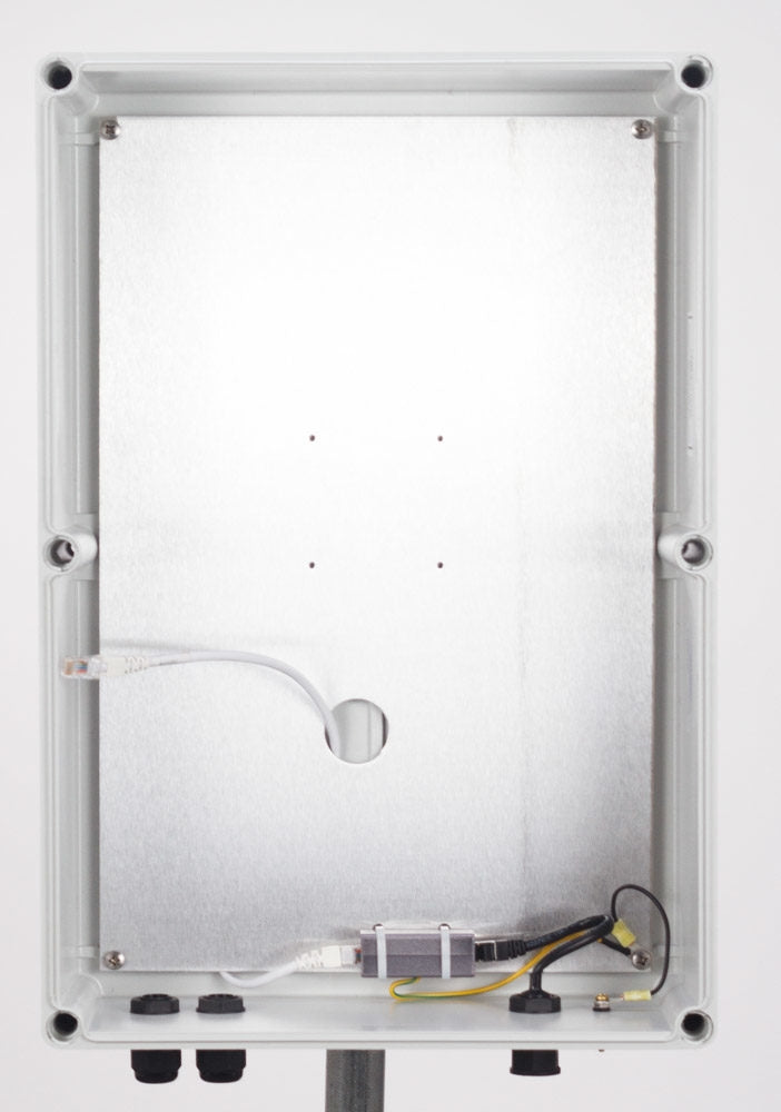 PCE22105-00W-X1: White Polycarbonate enclosure for Impinj xSpan - 22 x 10 x 5 inches