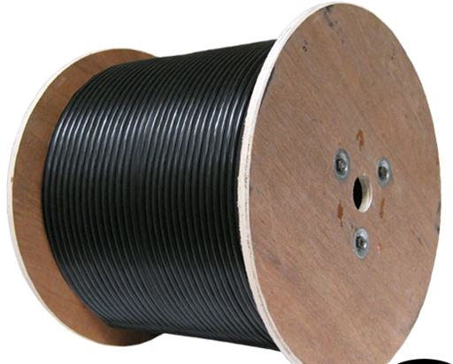 PT195-250: 195 Type Cable reel with no connectors, 250 Ft.