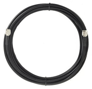 PT058-001-RSMRA-SNM- 1 Foot RG58 Cable Assembly With straight N-Male connector and Right Angle RP SMA Male