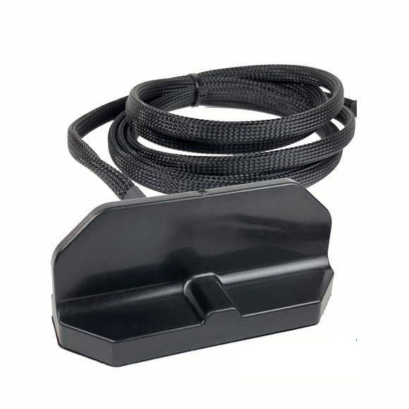 AP-M2M1-W-M-S1-BL-10: Airgain Black Thin Fin WiFi Antenna - 10 Ft Cable - Magnetic Mount - TNC Male