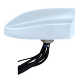 AP-MMF-CG-Q-S11-WH-20: 1 x Cell and 1 X GPS White Antenna - 20 Ft Low Loss Coax with TNC Male Connector