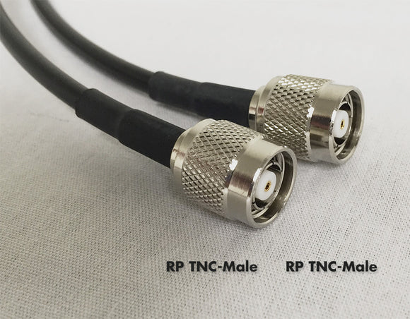 LMR195 Type equivalent Cable - RPTNC-Male to RPTNC-Male - 24 Foot