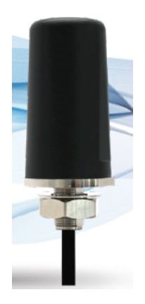 RSGB-4-6SSM: RFMAX 3.24 inch Black Salt Shaker LTE Antenna High Gain IP67 698-960/1700-2700 MHz 6 Ft. Cable Standard SMA Male Connector