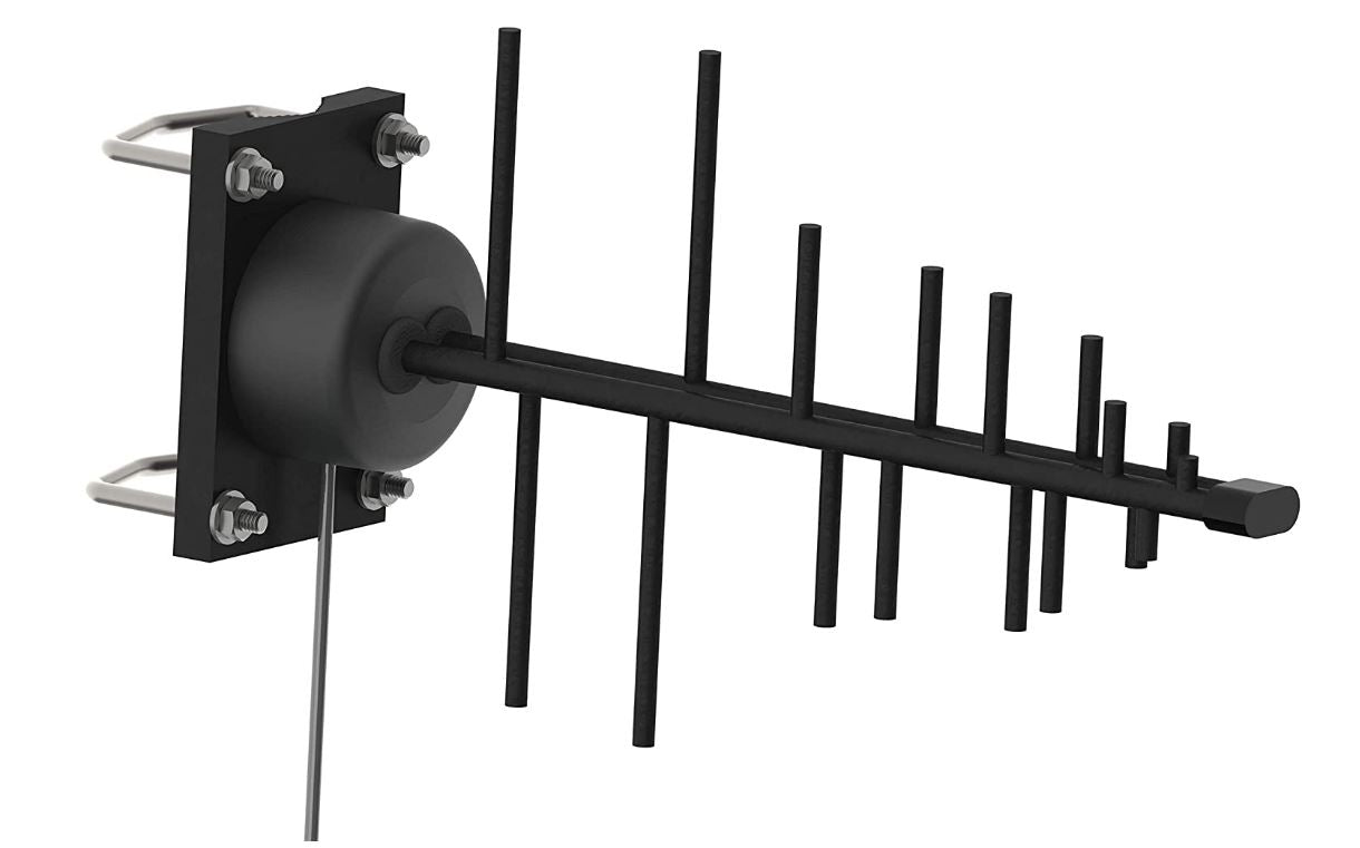 Outdoor Yagi Antenna For 4G, LTE, 5G, Band 71 & CBRS Band 48. 600-6000 MHz Range. RY-4-14-SNF