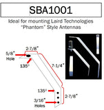 SBA1001: Aluminum Mounting Bracket for Antennas with N-Female Permanent Mount - 5/8 inch