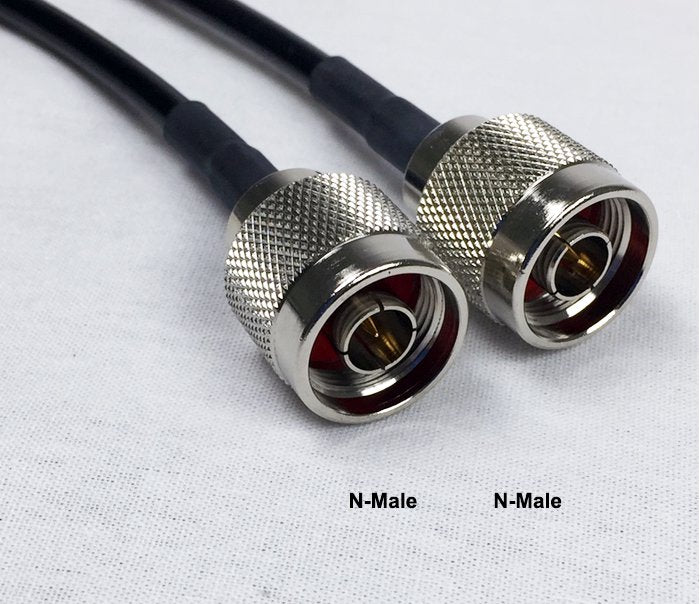 LMR400 Type Equivalent Low Loss Coax Cable - 10 Feet - N Male - N Male