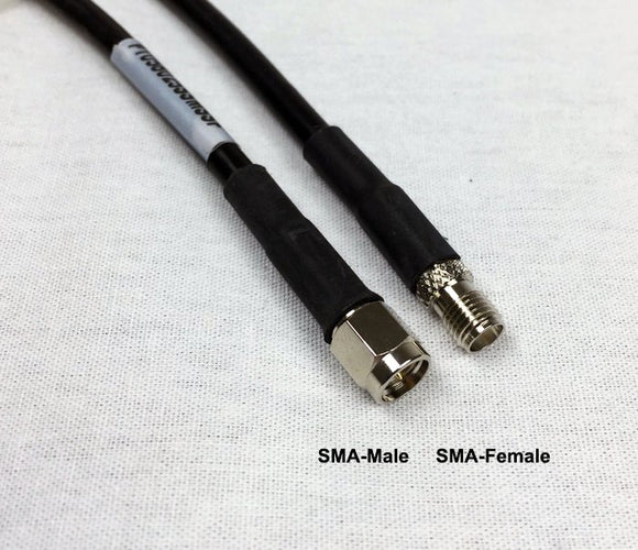 LMR240 Type equivalent Low Loss Coax Cable - 50 Feet - SMA Female - SMA Male
