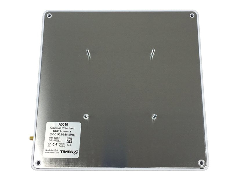 A5010-60004 10x10 Inch Low Profile Circular Polarized ETSI RFID Antenna - With VESA Stud Mount