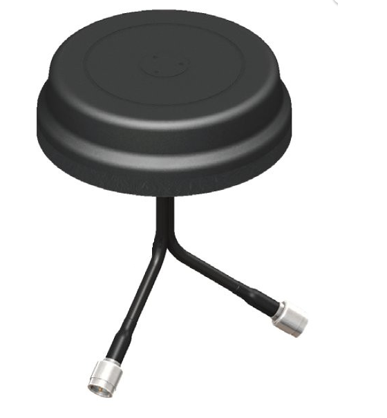 VMD24493RSM-366 5x1.25 Inch Puck Style MIMO Antenna 2.4-2.5 & 4.9-5.85 GHz - RP-SMA-Male