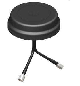 VMD24493RSM-92 5x1.25 Inch Puck Style MIMO Antenna 2.4-2.5 & 4.9-5.85 GHz - RP-SMA-Male with 3 Ft cable