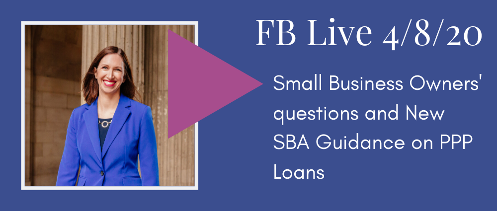 Video: Small Busines Owners' questions and New SBA Guidance on PPP Loans (FB Live 123)