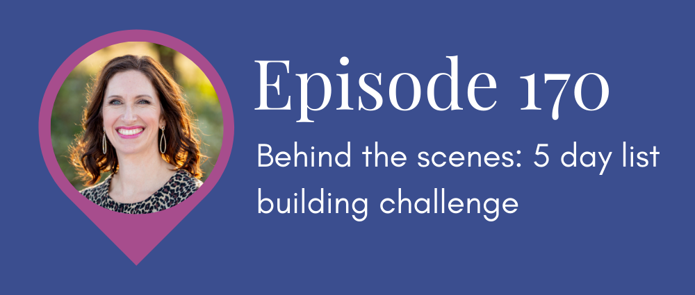 Behind the scenes: 5 day list building challenge (Legal Road Map podcast S5E171)
