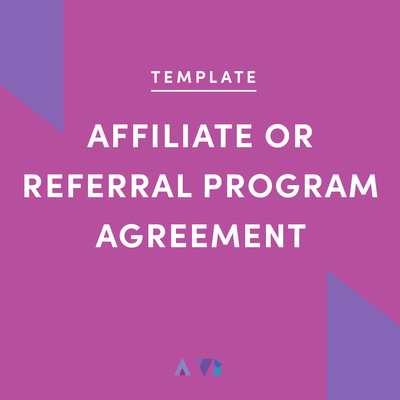 affiliate or referral program agreement template