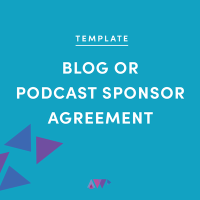 blog or podcast sponsor agreement