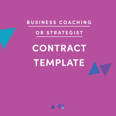 business coach contract template