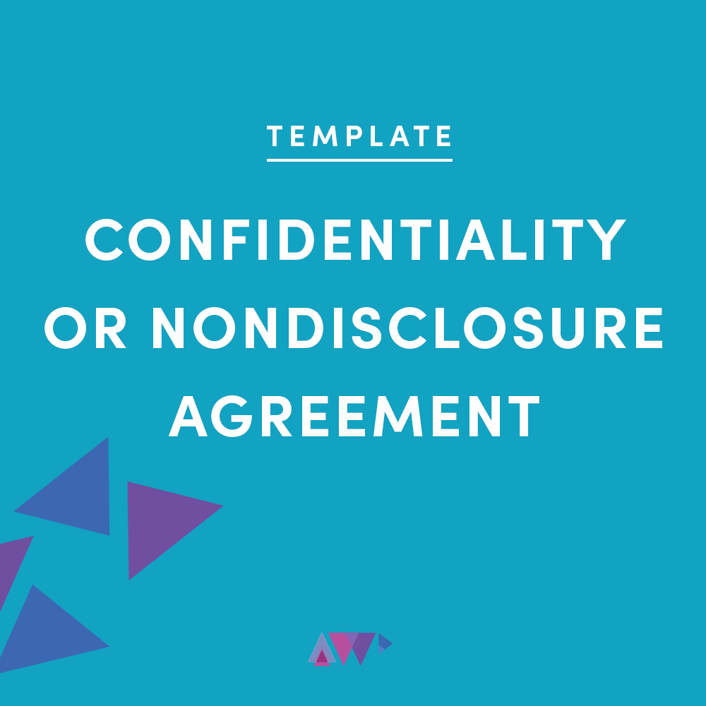 confidentiality or nondisclosure agreement