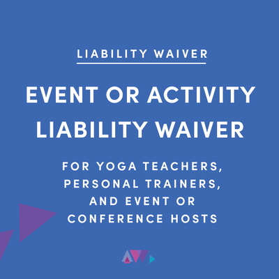 event or liability waiver