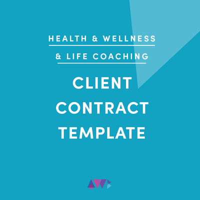 health and wellness and life coaching client contract template