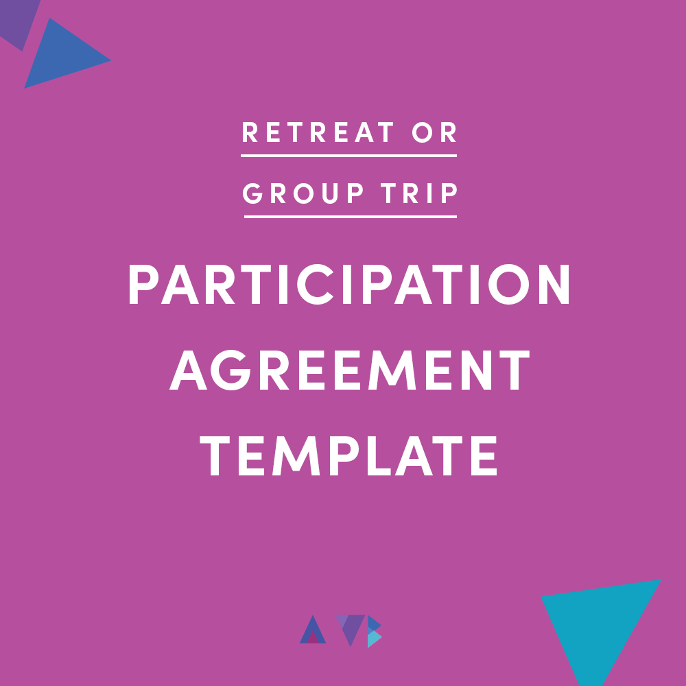 retreat or group trip participation agreement template