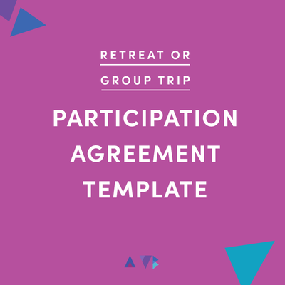retreat or group trip attendee agreement