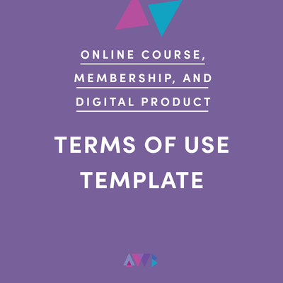 online course, membership, and digital product terms of use template