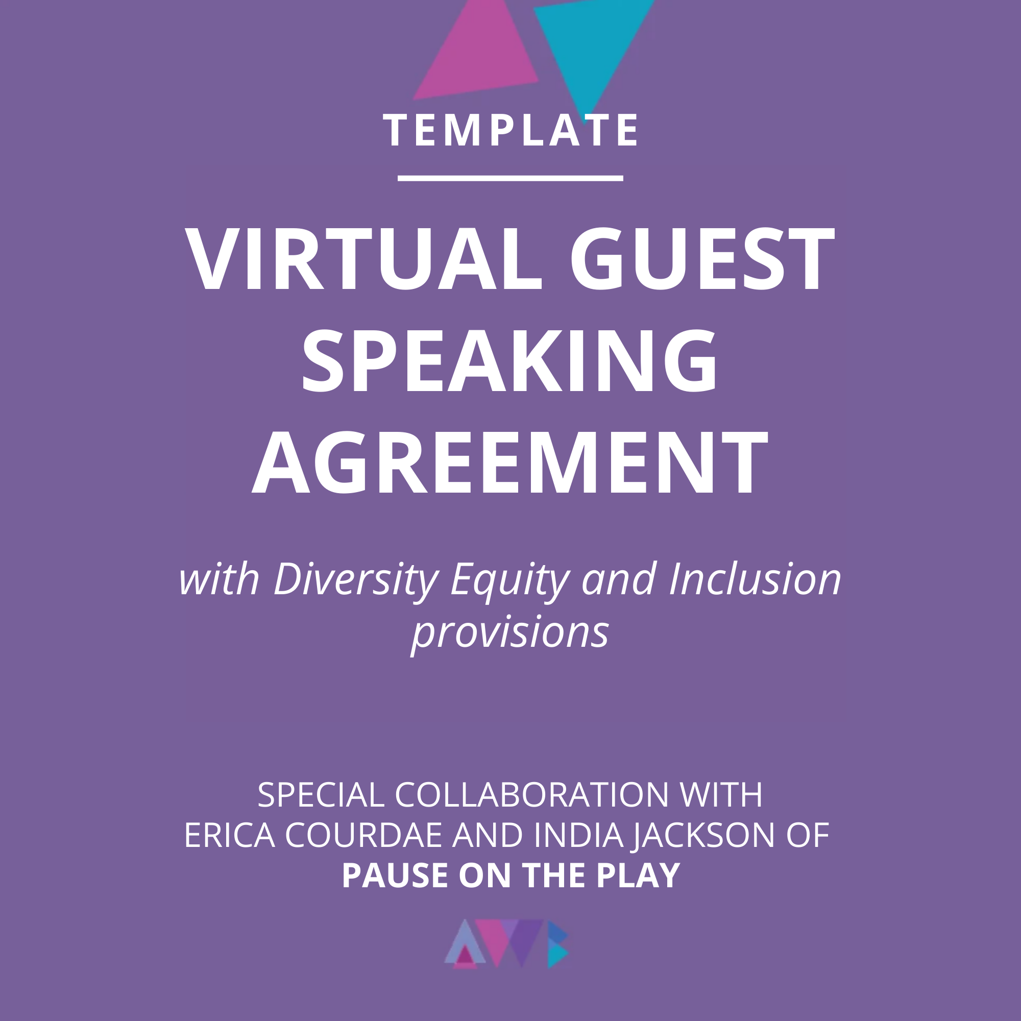 virtual guest speaking agreement diversity equity inclusion erica courdae india jackson pause on the play
