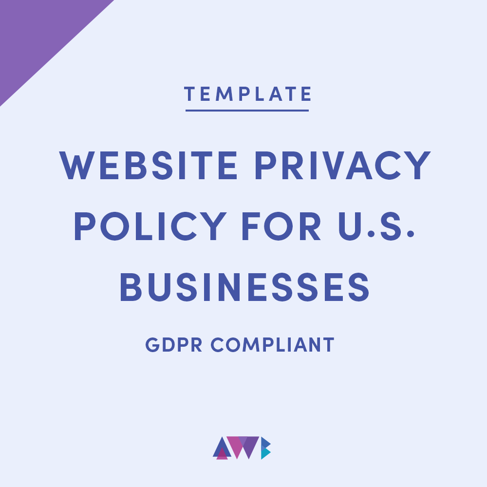 website privacy policy for U.S. businesses