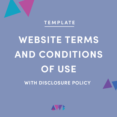 website terms and conditions of use template