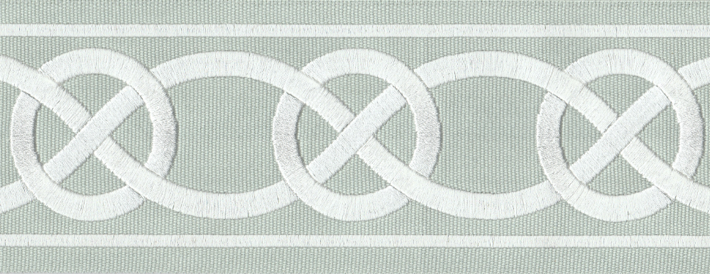 Evangeline tape trim - Mist and White