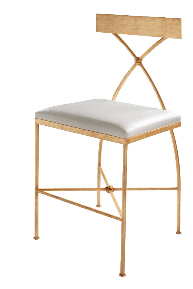 Ivey Counter Stool - Gold