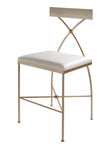 Ivey Counter Stool - Silver