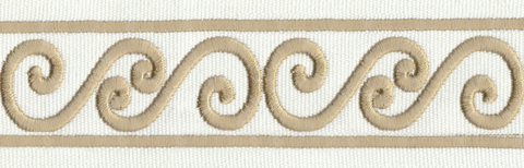 Paige tape trim - Ivory and Gold