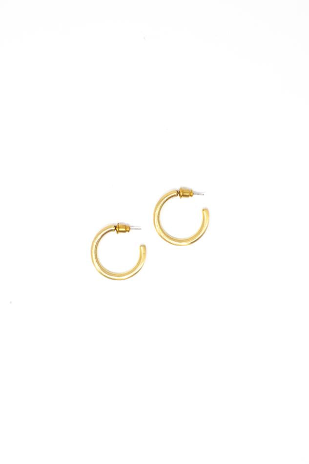 Small Gold Hoops 1""