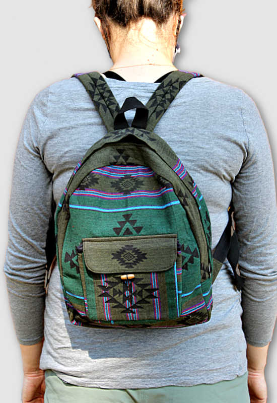 Blockprinted Cotton Backpack