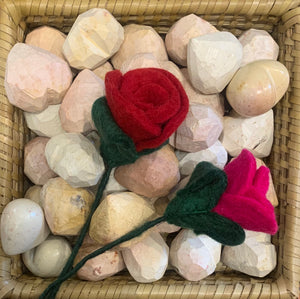 Small Felted Rose
