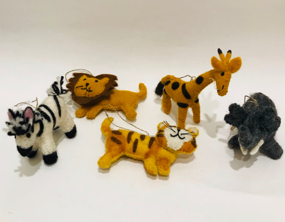 Felted Safari Ornaments